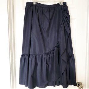 JCrew Collection Ruffle Wrap Skirt